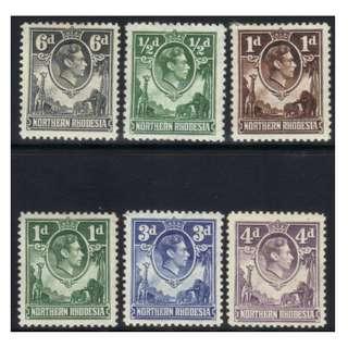 NORTHERN RHODESIA KGVII 1938 DEFINS MH BL606