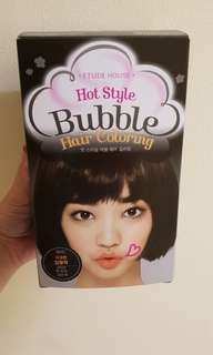 Bubble hair coloring (black)