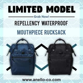 ANELLO Limited Model Repellency Waterproof Mouthpiece Rucksack