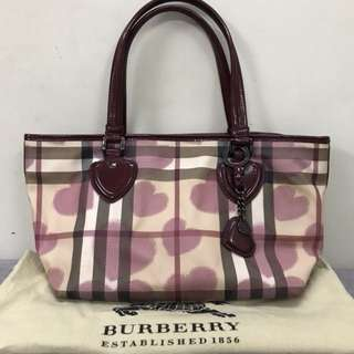 Authentic Burberry Nova Heart Tote Bag