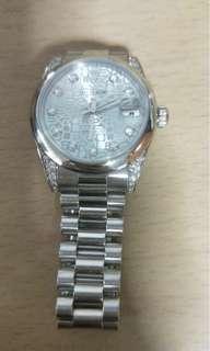 Rolex men platinum ice blue