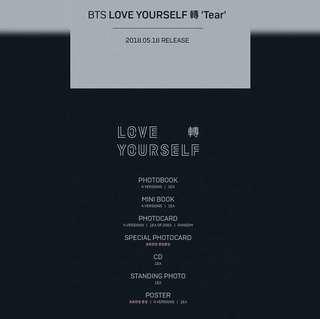 BTS LOVE YOURSELF 'TEAR' ALBUM