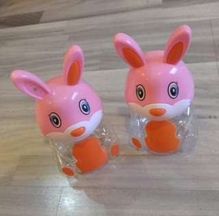 #allforfree FOC Free To Bless Blessing - Pink Transparent Plastic Cute Rabbit Piggy Coin Coins Bank
