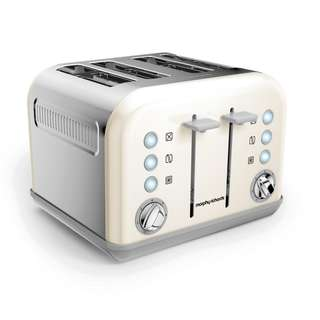 Morphy Richards 4 Slice Toaster 242032 (White) (Brand New)