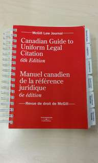 Canadian Guide to Uniform Legal Citation (6th Ed)