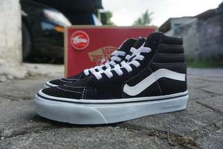 Vans Sk8-Hi Black White. Premium quality made in china
