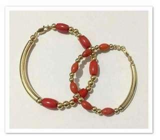 10k baby coral bracelet