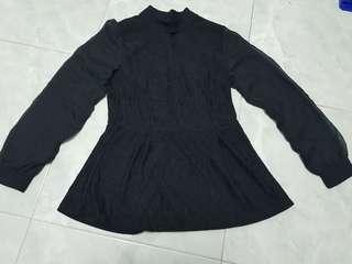 Brand new ladies black long sleeves top M