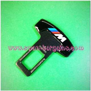 Universal Car Safety Belt Buckle Key Clasp Clip With 3D BMW M Tri-colour Logo