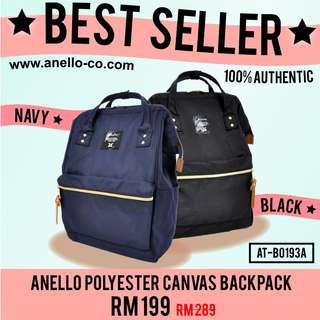 BEST SELLER! Anello Polyester Canvas Backpack Rucksack