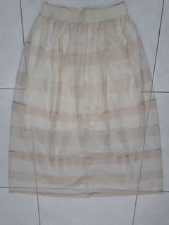 Semi Transparant Long Skirt