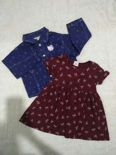 Baby Gap dress with Hello Kitty sweater