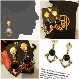 """Auth💯 House of Harlow 1960 Gold Patolli Earrings (Valued at 4,500 pesos)""""Game of Thrones theme"""