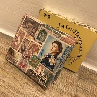 💯 Handmade Collectors item World Stamp Wallet