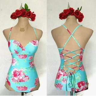 Corset Floral one piece swimsuit