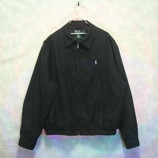 三件7折🎊 Ralph Lauren Polo 夾克 外套 黑 磨毛布 卡其小馬 極稀有 老品 古著