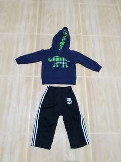 Carters Hood Jacket and Oshkosh Jogging Pants