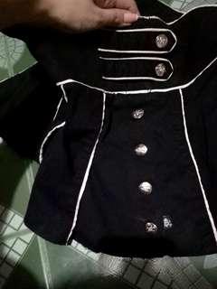 Tripp Buttoned Up Goth Skirt