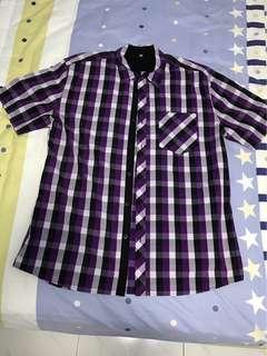 CLEARANCE SALE! G2000 Purple Button Up Shirt Short Sleeve