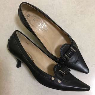 Tods black shoes size 36.5