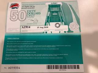 $500 worth of SPC vouchers selling at 15% discount. Can be used to purchase majority of the items in Choices.