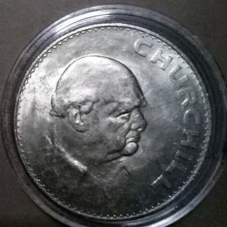 UK 1965 Winston Churchill Commemorative Coins