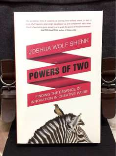 # Highly Recommended《New Book Condition + Power Of Creative Pair : Sometimes 1+1 Add Up To More Than 2 or Ten or To Infinity》J. Wolf Shenk -POWER OF TWO : Finding The Essence of Innovation in Creative Pairs