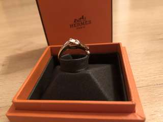 Hermes Rose Gold With Diamond Ring