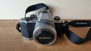 Olympus OM-D with 14-35mm F3.5-5.6 lens + 3 battery