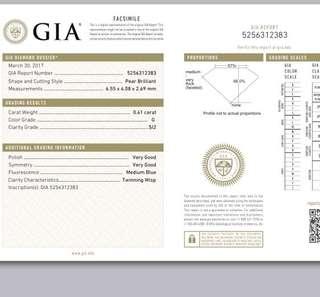 母親節鑽石熱門推介 GIA 0.41 卡 梨石
