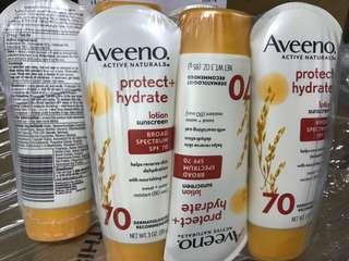 AVEENO Protect+Hydrate@Lotion SPF70 3oz