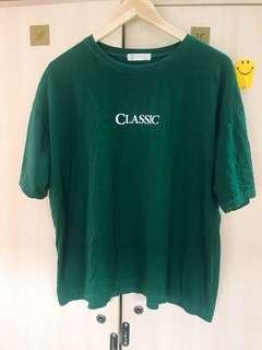 classic 素色上衣  墨綠