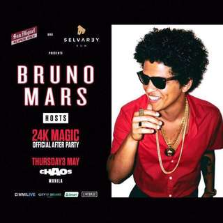 Bruno Mars 24K Official After Party