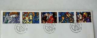 Great Britain UK England Christmas Stamps & Special Postmark #2