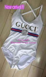 Gucci Vintage Logo Sparkling Swimsuit (Summer 2018 Collection)