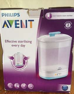 BNew! Avent 2-in-1 Electric Steam Sterilizer
