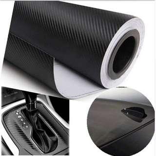 3D Carbon Fiber Vinyl (Car Styling / Wrap / Stickers / Multifunction) 127x30cm Black