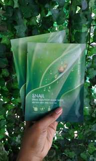 Sheet mask snail solution nature republic