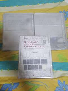 NEW ARRIVAL, PCCB TRANSPARENT PAGE INSERTS, 2 SLOTS & 3 SLOTS, PACK OF 10