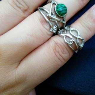 4 piece antique style midi rings