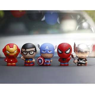 Q version Superman , Iron man , Thor , Spiderman , Captain America Car display/ Cake topper/ Party