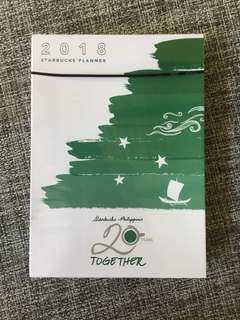 BRAND NEW Starbucks Planner 2018 (offer price)