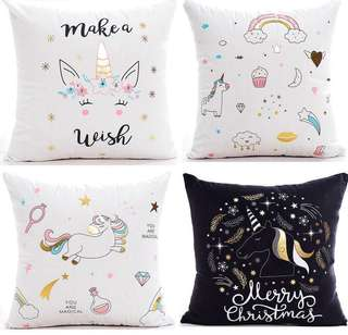 Cushion Pillow with Animal Print (A set of 4 pillows)