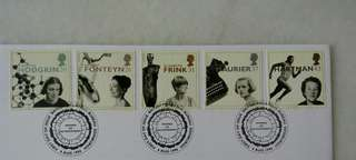 Great Britain UK England Women of Achievement Stamps & Postmark #1