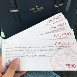 2k worth Shiseido gift certificate