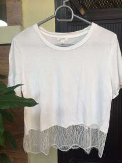 White with Lace Hangtop