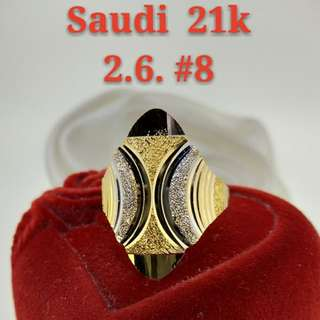 WOMEN'S 21K SAUDI GOLD RINGS ..>>>