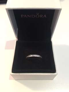 Pandora light pink radiant heart ring