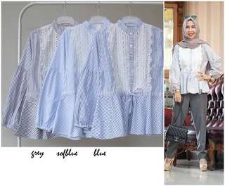 blouse salur renda dada