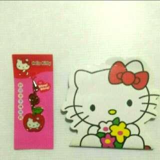 🚚 Hello Kitty 鋅合金手機吊飾(贈小本子)